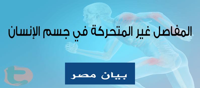 تعرف على المفاصل غير المتحركة في جسم الإنسان